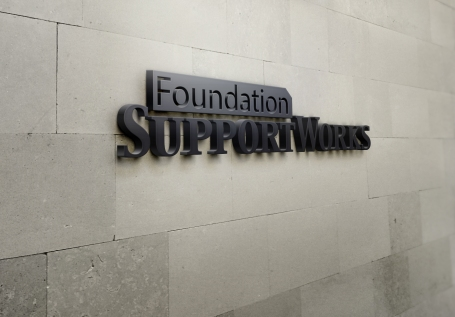 foundation support works wall mockup